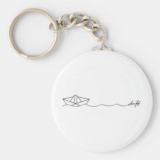 Drift Paper Boat Keychain