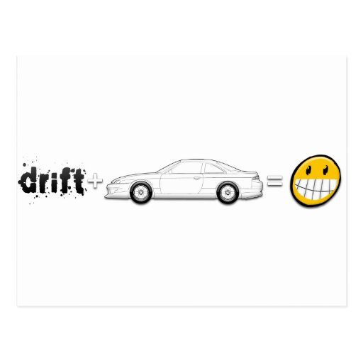 Drift Silvia S14 is fun Postcards