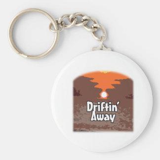 Drifting Away Basic Round Button Key Ring
