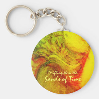 Drifting thru the Sands of Time Basic Round Button Key Ring