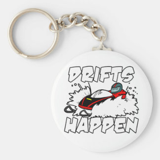 Drifts Happen Basic Round Button Key Ring
