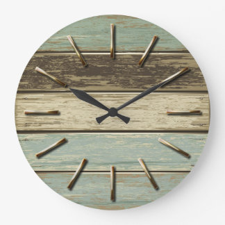 Driftwood 5 Wall Clock