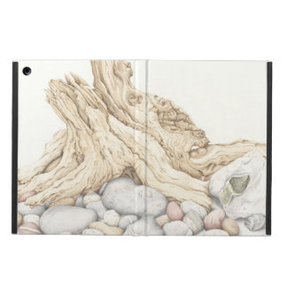 Driftwood and Pebbles Still Life, Coloured Pencil iPad Air Case