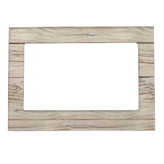 Driftwood Background Texture Magnetic Picture Frame