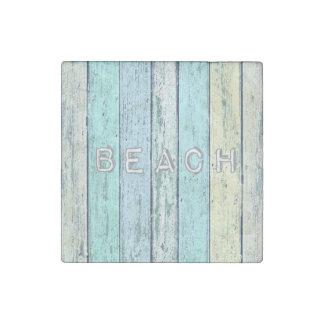 Driftwood Beach Stone Magnet