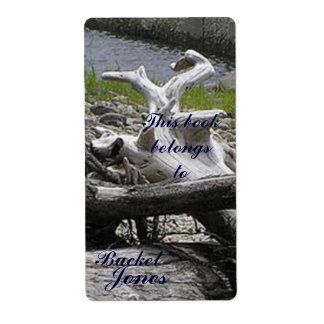 Driftwood  Bookplate Shipping Label