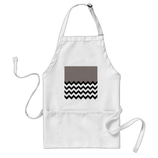 Driftwood Brown Pattern On Large Zigzag Chevron Standard Apron