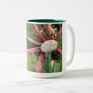 Driftwood Flower Two-Tone Coffee Mug