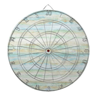 Driftwood Ocean Beach House Coastal Seashore Dartboard