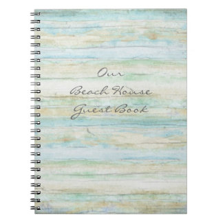 Driftwood Ocean Beach House Coastal Seashore Spiral Notebooks