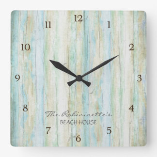Driftwood Ocean Beach House Coastal Seashoredriftw Clocks
