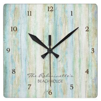 Driftwood Ocean Beach House Coastal Seashoredriftw Clocks