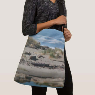 Driftwood Oregon Beach Dunes River Tote Bag