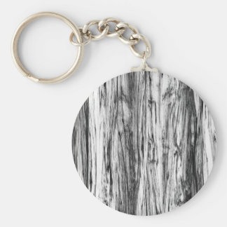 Driftwood pattern - black, white and grey basic round button key ring