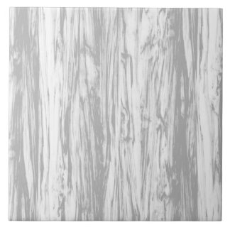 Driftwood pattern - grey / gray and white large square tile