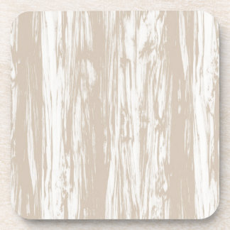 Driftwood pattern - taupe tan and white coaster
