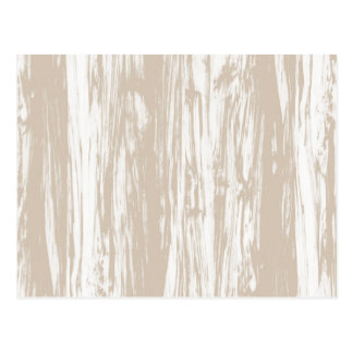 Driftwood pattern - taupe tan and white postcard