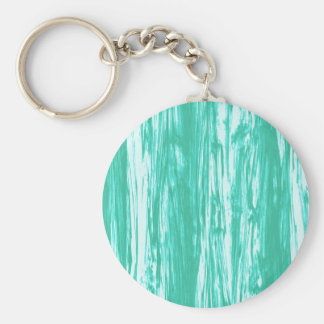Driftwood pattern - turquoise and white keychain