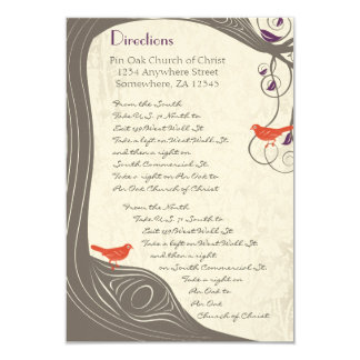 Driftwood Tree Swirl Direction Card