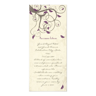 Driftwood Tree Swirl Love Birds Accommodations Card