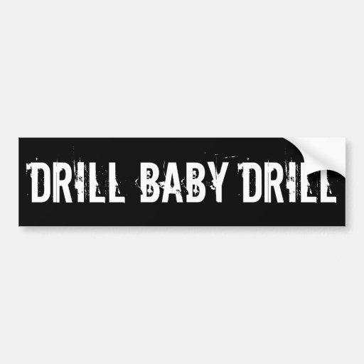 Drill Baby Drill, Black Bumper Stickers