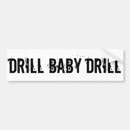 Drill Baby Drill, White Bumper Sticker