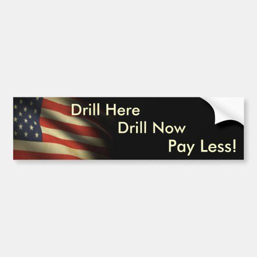 Drill Bumper Sticker Patriot