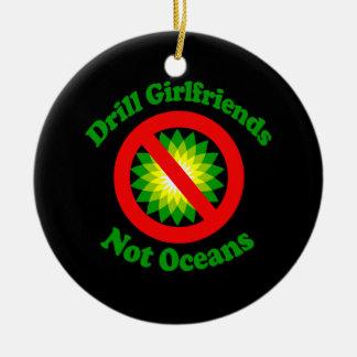 Drill Girlfriends NOT Oceans Round Ceramic Decoration