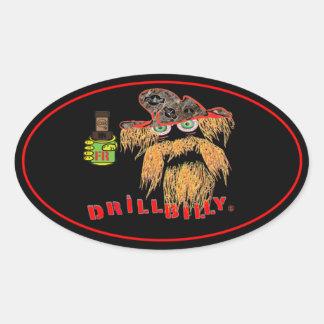 DRILLBILLY Oilfield Oval Sticker