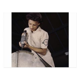 Drilling Deep, 1940s Postcard
