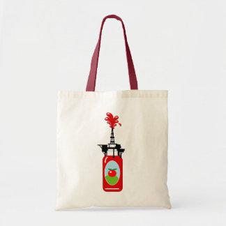 Drilling For Ketchup Budget Tote Bag