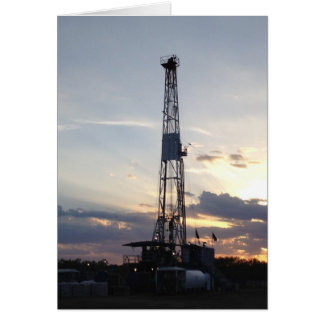 Drilling Rig Sunset Card