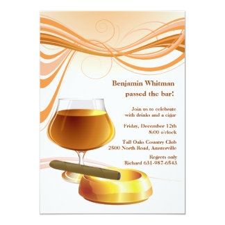 Drink and a Cigar Invitation