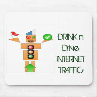 Drink and Drive Internet Traffic Mouse Pad