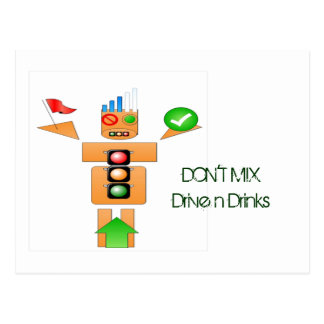 Drink and Drive Internet Traffice Postcard