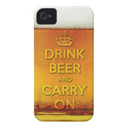 Drink beer and carry on Case-Mate blackberry case
