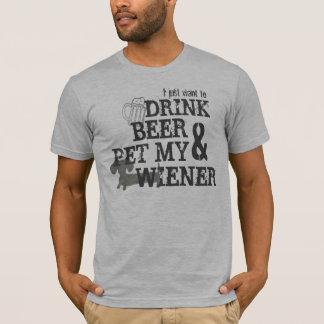 Drink Beer & Pet My Wiener Beer Dachshund Shirt