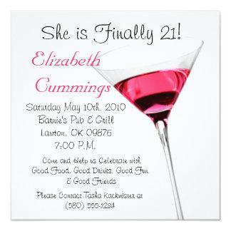 drink birthday party invite fun simple classy 21