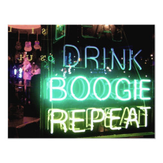 Drink, Boogie, Repeat! 11 Cm X 14 Cm Invitation Card