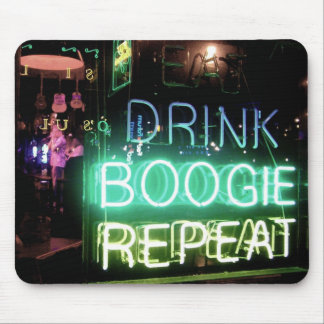 Drink, Boogie, Repeat! Mousepads
