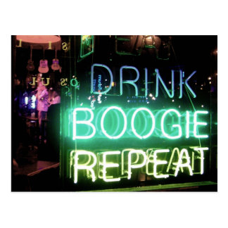 Drink, Boogie, Repeat! Post Card