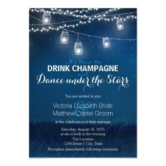 Drink Champagne Dance Under Stars Mason Jar 11 Cm X 16 Cm Invitation Card
