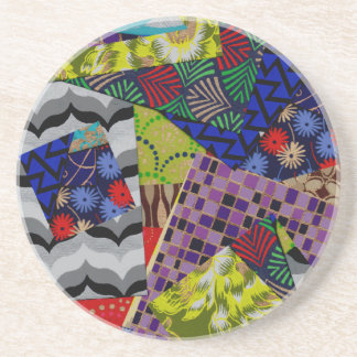 Drink Coaster with Multi-Patterned Design