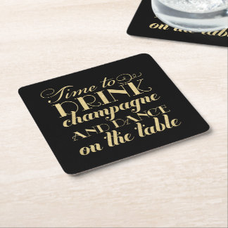 Drink Coasters | Time to Drink Champagne