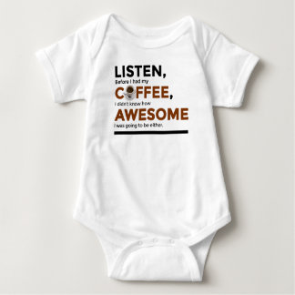 Drink Coffee Be Awesome Baby Bodysuit