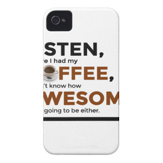 Drink Coffee Be Awesome iPhone 4 Cover