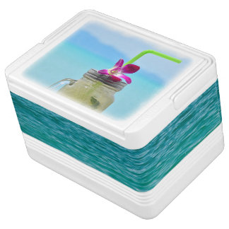 Drink cooler print with cold ice mojito