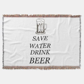 Drink Food Beer Throw Blanket