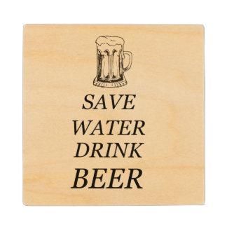 Drink Food Beer Wood Coaster