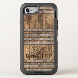 """DRINK IT UP"" Barrel Wood OtterBox Defender iPhone 7 Case"